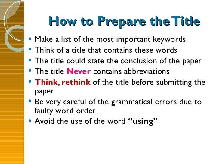 good titles for term papers Academic term paper help: secrets, tips, guidelines and how-to's 20 good title examples for a research paper on negotiation skills the topic of negotiation skills can cover a wide range of.