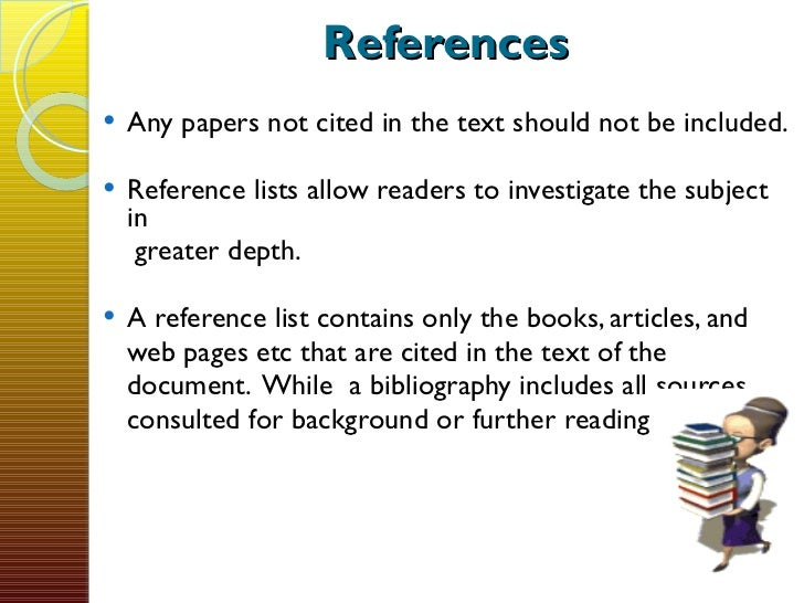 How to write references for a paper