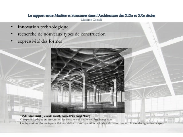 Le rapport entre mati re et structures dans l architecture for Architecture 20eme siecle