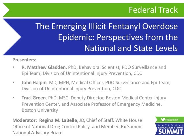 The Emerging Illicit Fentanyl Overdose Epidemic: Perspectives from the National and State Levels Presenters: • R. Matthew ...