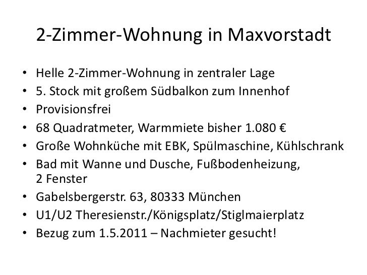 2-Zimmer-Wohnung in Maxvorstadt<br />Helle 2-Zimmer-Wohnung in zentraler Lage<br />5. Stock mit großem Südbalkon zum Innen...