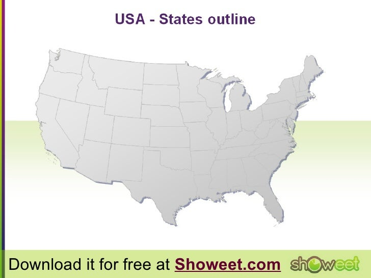 HiDef Editable PowerPoint Map Of USA Free Map - Editable us map for powerpoint free