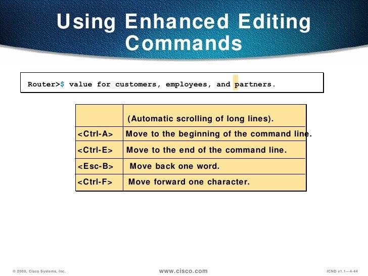 operating and configuring cisco a cisco IOS device