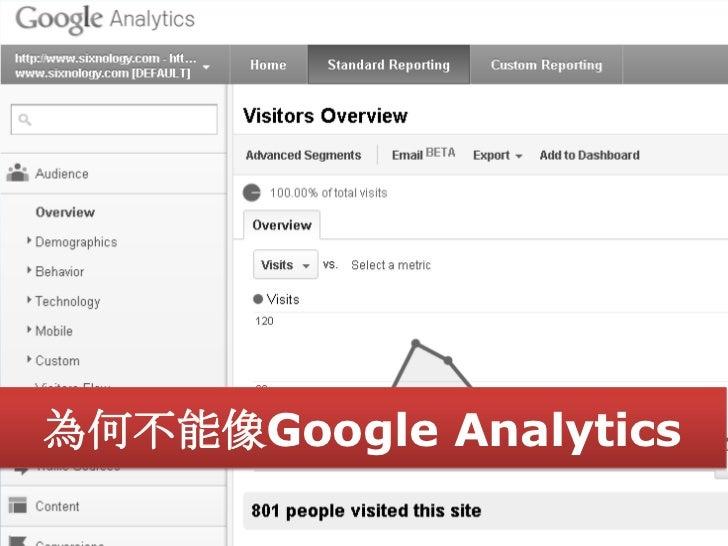 為何不能像Google Analytics                    63