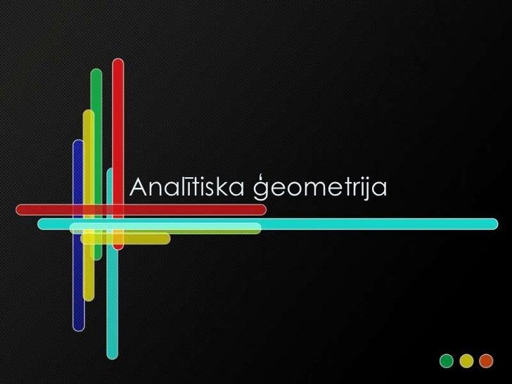 Analītiska ģeometrija