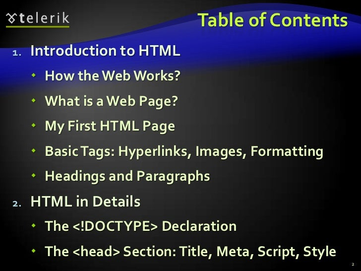 HTML Fundamentals Slide 2