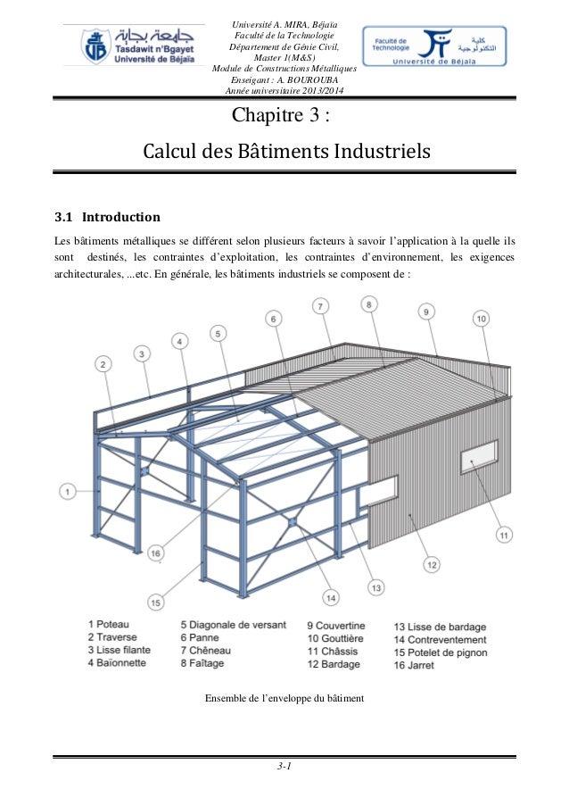 Université A. MIRA, Béjaïa Faculté de la Technologie Département de Génie Civil, Master 1(M&S) Module de Constructions Mét...
