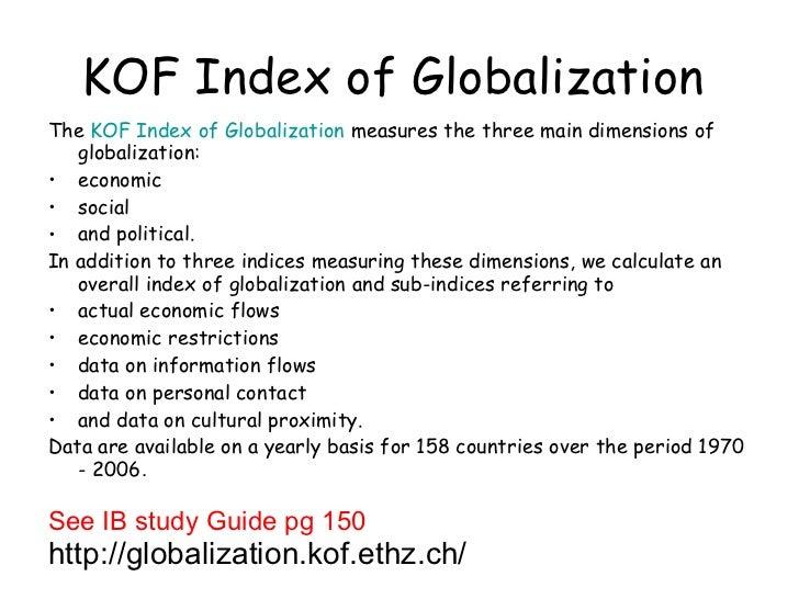 main characteristics of globalization