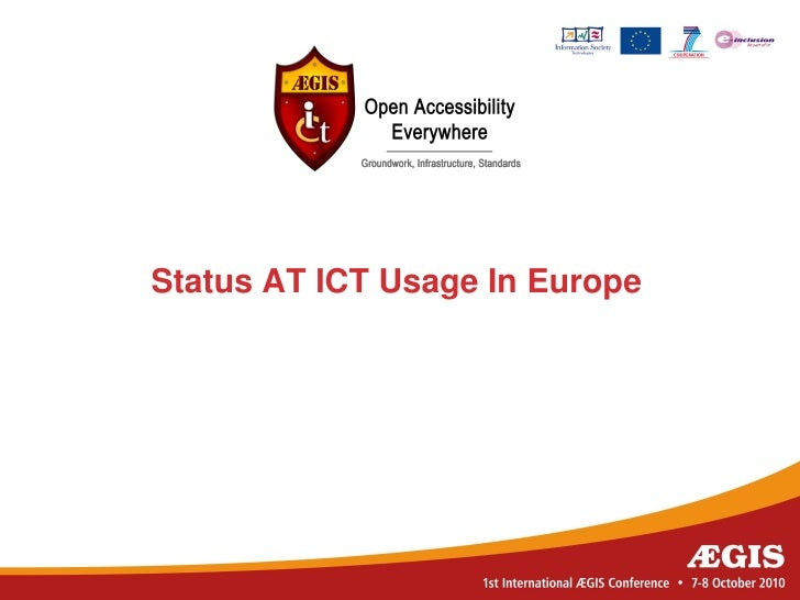 Status AT ICT usage in Europe
