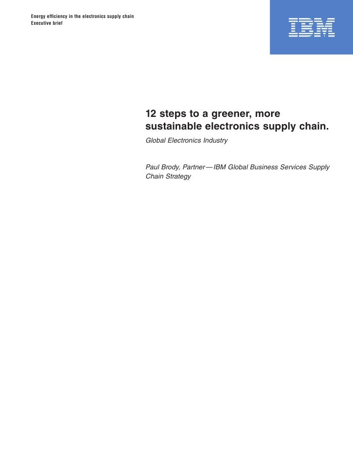 12 Steps - Green Supply Chain Strategies from IBM