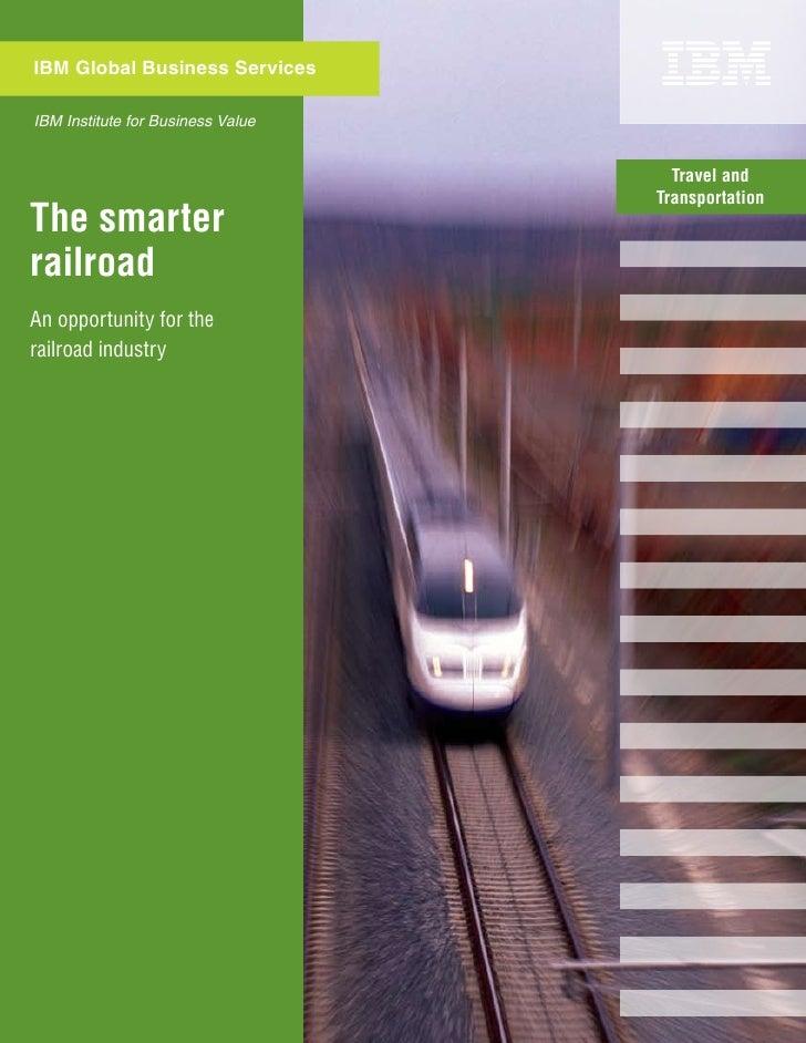 Railroad Industry - Smart Railroad Opportunities