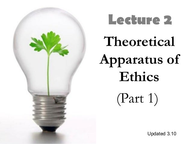 Lecture 2 Theoretical Apparatus of Ethics (Part 1) Updated 3.10