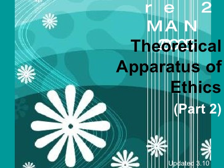 Lecture 2 MAN 20005 Theoretical Apparatus of Ethics (Part 2) Updated 3.10