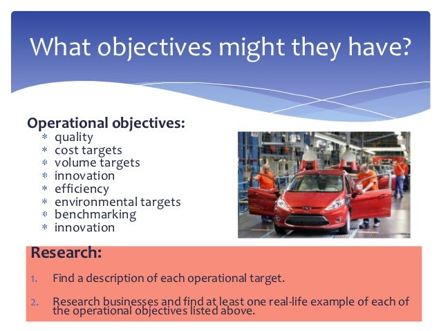 the internal and external factors that influence the operational objectives of toyota Organizational environment denotes internal and external environmental factors influencing organizational activates these strategic partners in some way influence the organization's activities the environment irrespective of its external or internal nature, a manager must have a clear.