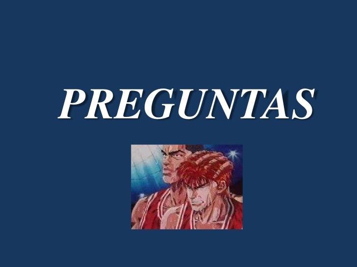 PREGUNTAS<br />