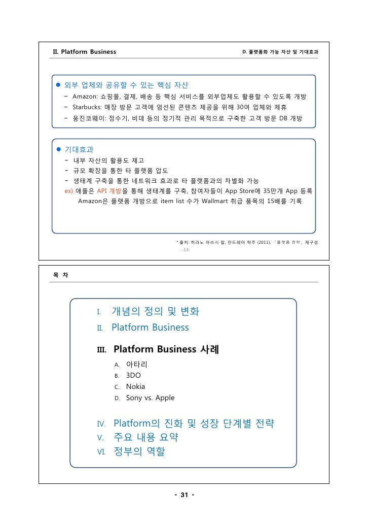 III. Platform Business                                                                           A.                       ...