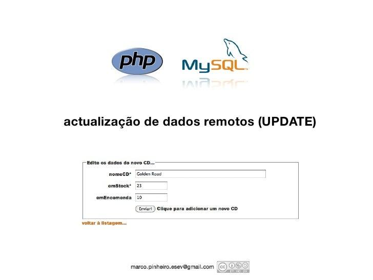 actualização de dados remotos (UPDATE)