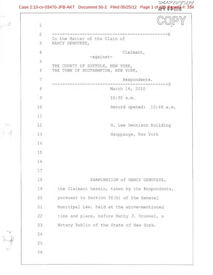 Case 2:10-cv-03470-JFB-AKT Document 50-2 Filed 05/25/12 Page 1 of 135 PageID #: 334