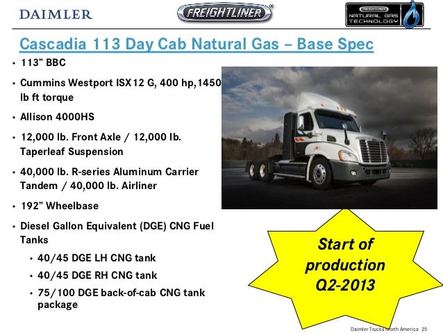 Freightliner CNG Vehicles