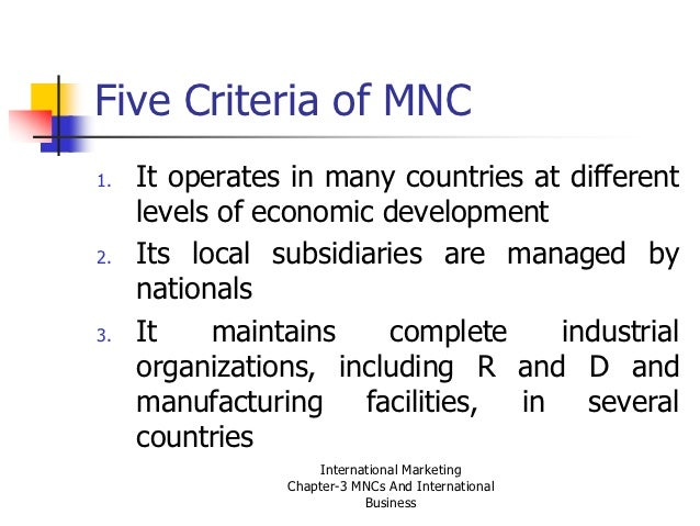 international business mnc The effect of international  the effect of international staffing practices on  determinant of mnc management in general and international staffing.
