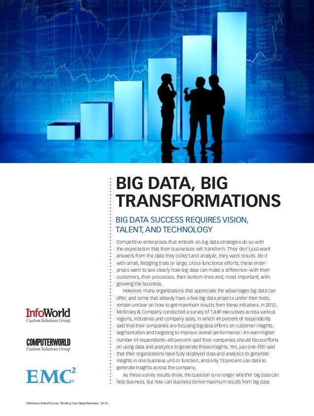 BIG DATA, BIG                                                                     TRANSFORMATIONS                         ...