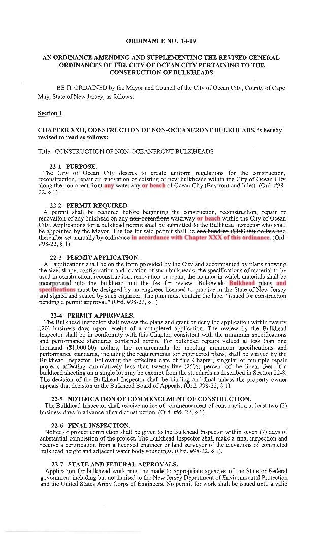 Ocean City Council agenda March 13, 2014