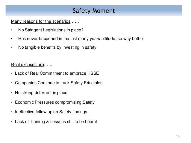 Safety Moment In E Amp C Forum