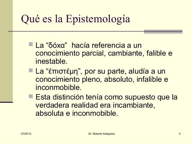 Qu es la Epistemolog a y para qu sirve