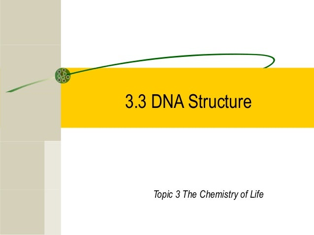 3.3 DNA Structure Topic 3 The Chemistry of Life
