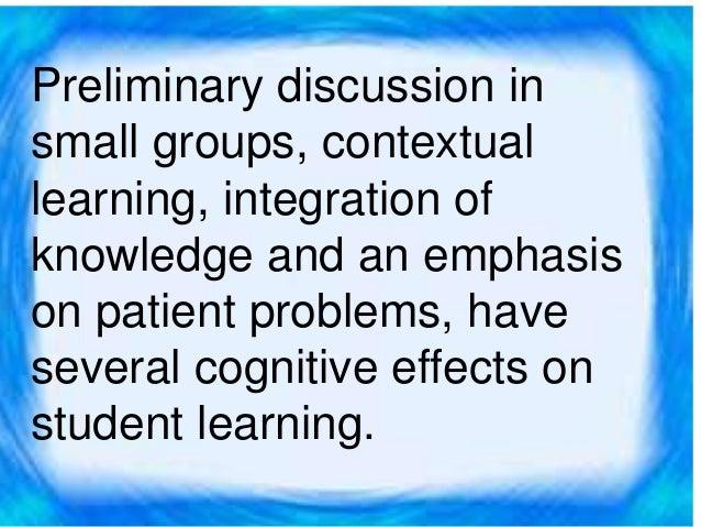 Problem centered approach