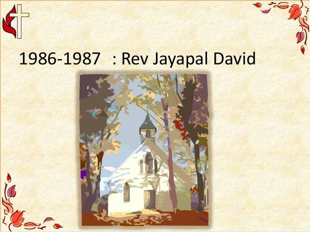 1986-1987 : Rev Jayapal David