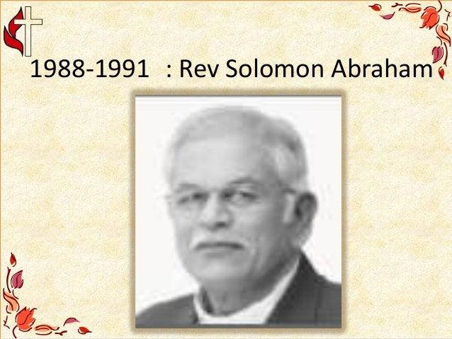1988-1991 : Rev Solomon Abraham
