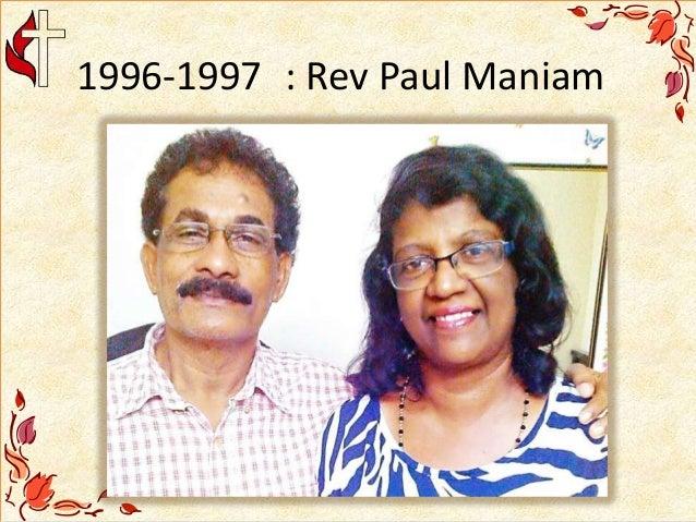 1996-1997 : Rev Paul Maniam
