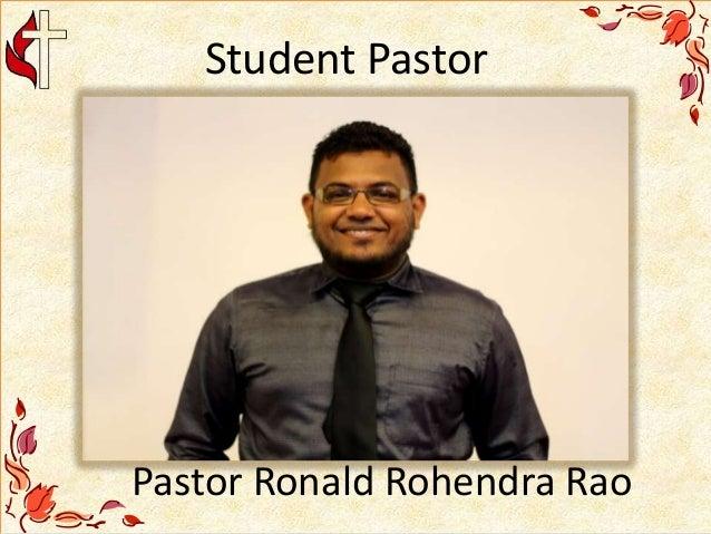 Student Pastor Pastor Ronald Rohendra Rao
