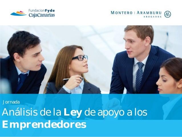 Jornada  Análisis de la Ley de apoyo a los Emprendedores