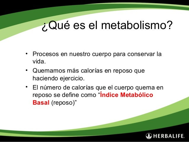 Metabolismo y Ejercicios.