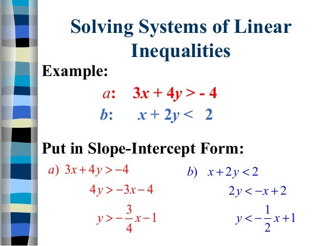 33 graph systems of linear inequalities – System of Linear Inequalities Worksheet