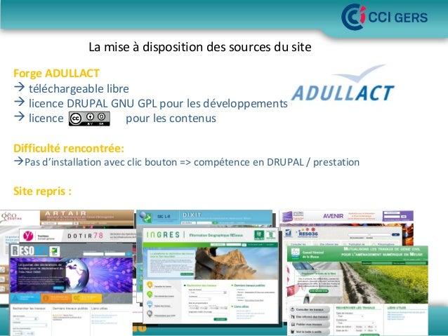 La mise à disposition des sources du site Forge ADULLACT  téléchargeable libre  licence DRUPAL GNU GPL pour les développ...