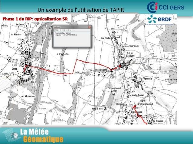 Un exemple de l'utilisation de TAPIR Phase 1 du RIP: opticalisation SR  La Mêlée Géomatique  Jeudi 14 novembre 2013 – Inno...