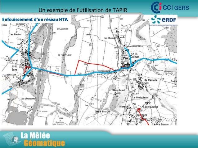 Un exemple de l'utilisation de TAPIR Enfouissement d'un réseau HTA  La Mêlée Géomatique  Jeudi 14 novembre 2013 – Innoparc...