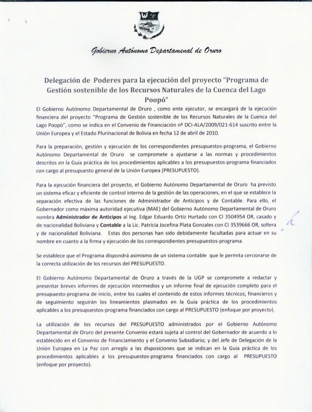 DELEGACION DE PODERES