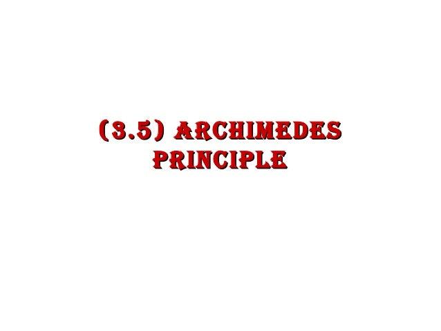 (3.5) Archimedes PrinciPle