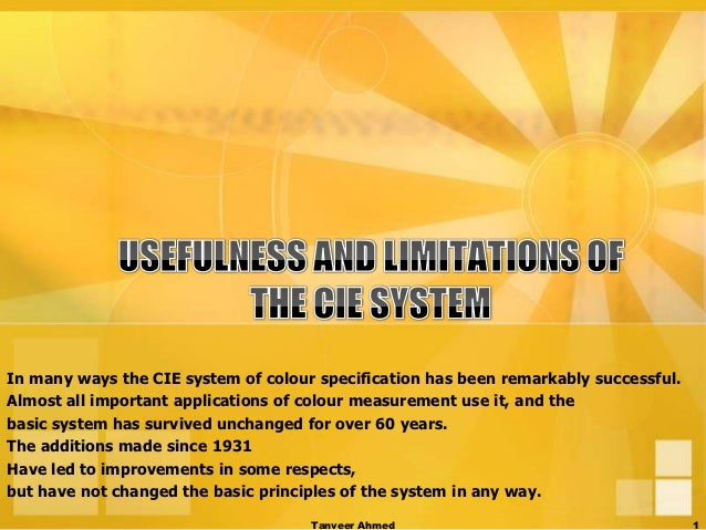 In many ways the CIE system of colour specification has been remarkably successful.Almost all important applications of co...