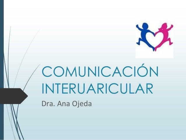 COMUNICACIÓN INTERUARICULAR Dra. Ana Ojeda