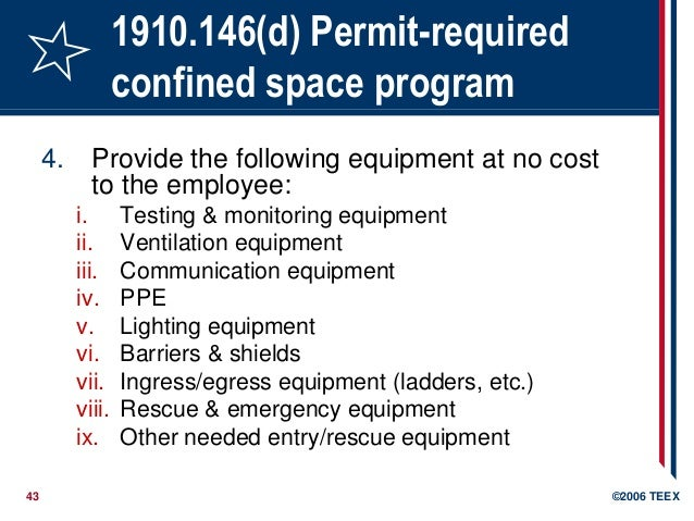 Free Professional Resume » confined space training requirements ...