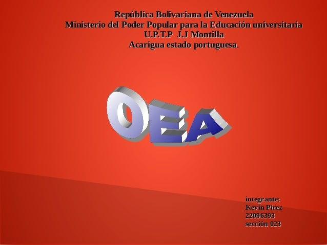 República Bolivariana de VenezuelaRepública Bolivariana de Venezuela Ministerio del Poder Popular para la Educación univer...