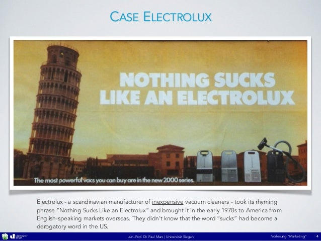 Market Research of Electrolux