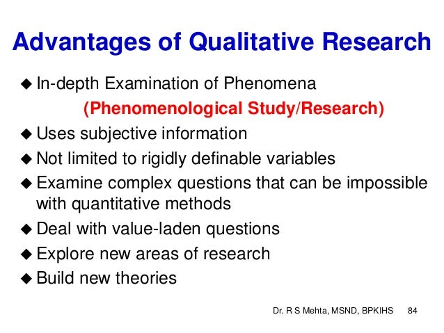 "advantages of phenomenological research Interpretive phenomenological analysis (ipa) may be used by the researcher whose research question requires ""participants interpretation of the topic under investigation"" (cited in smith et al, chapter 15 ` doing interpretive phenomenological analysis)."