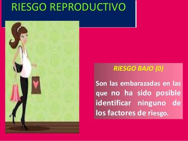 RIESGO BAJO (0) Son las embarazadas en las que no ha sido posible identificar ninguno de los factores de riesgo. RIESGO RE...