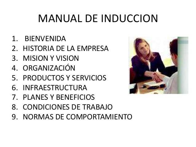 manual de bienvenida de una empresa pdf
